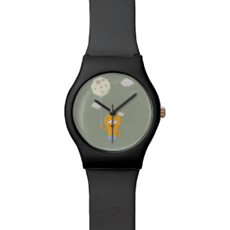 light bulb switch on the moon Ze7r4 Wrist Watch