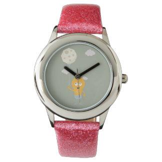 light bulb switch on the moon Ze7r4 Wristwatch