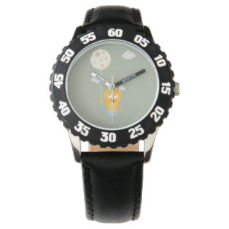 light bulb switch on the moon Ze7r4 Wristwatch