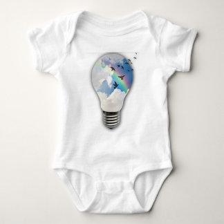 Light Bulbs Actually Spur Bright Ideas Baby Bodysuit