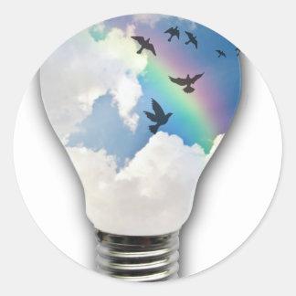 Light Bulbs Actually Spur Bright Ideas Classic Round Sticker