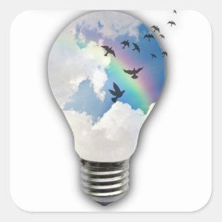 Light Bulbs Actually Spur Bright Ideas Square Sticker