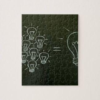 Light bulbs teamwork concept.jpg puzzle