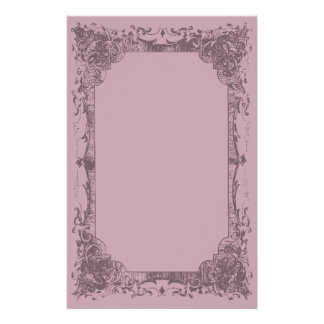 Light Burgundy Romantic French Flourish Stationery