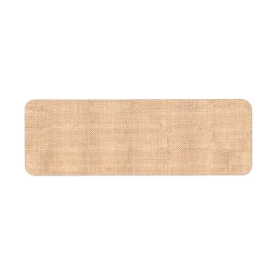 Light Burlap Address Label