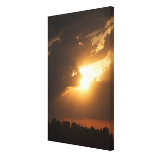 Light Bursting into Twilight Canvas Print