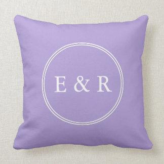 Light Chalky Pastel Purple Wedding Party Set Pillow