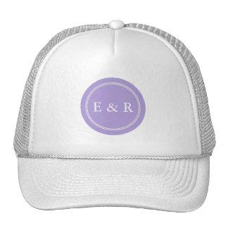 Light Chalky Pastel Purple Wedding Party Set Trucker Hat