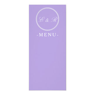 "Light Chalky Pastel Purple Weding Decoration 4"" X 9.25"" Invitation Card"