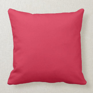 LIGHT CHERRY RED (a solid fruity colour) ~~ Throw Pillow