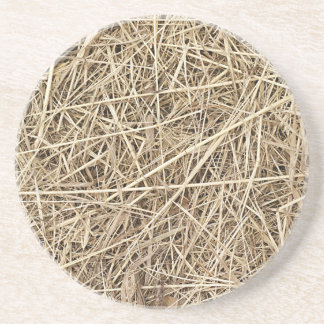 LIGHT COLORED STRAW BEVERAGE COASTERS