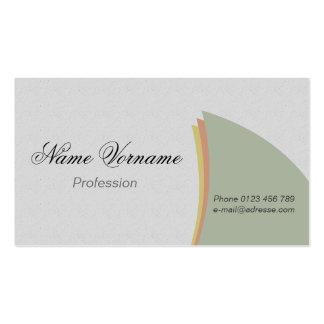 light colors business card