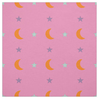Light colours stars and moon 2 fabric