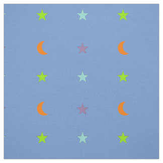 Light colours stars and moon 3 fabric