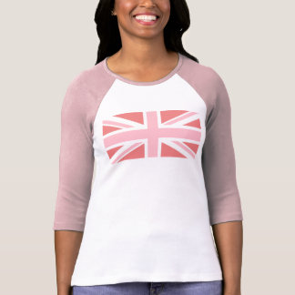 Light Coral and Pink Union Jack T-Shirt
