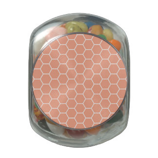Light Coral Geometric Honeycomb Pattern