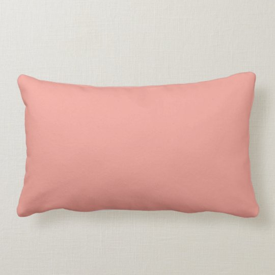 Light Coral Peach Fashion Colour Trend 2014 Custom Lumbar Pillow