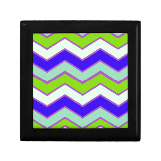Light Dark Contrast Chevron Keepsake Box