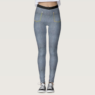 Light Denim Skinny Jeans Leggings