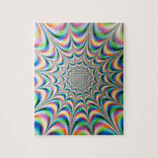 Light display, Infinity light tunnel Jigsaw Puzzle
