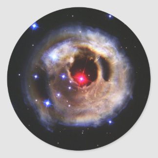 Light Echoes From A Red Supergiant Classic Round Sticker