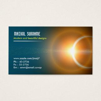 light elegant business card