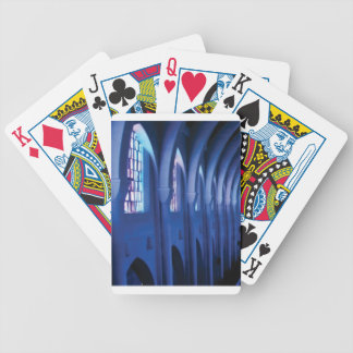 light enters dark church bicycle playing cards