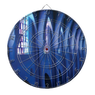 light enters dark church dartboard
