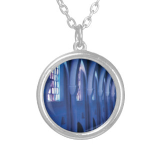 light enters dark church silver plated necklace