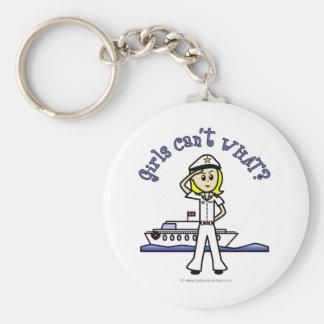 Light Female Captain Keychain
