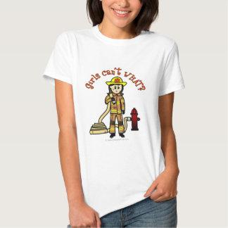 Light Female Fire Fighter T Shirt