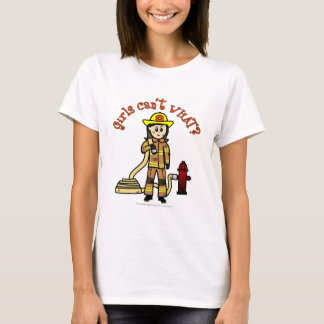 Light Female Fire Fighter T-Shirt