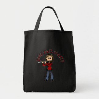 Light Female Flute Player Tote Bag
