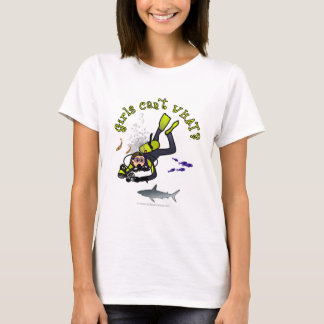 Light Female Scuba Diver T-Shirt