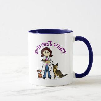 Light Female Veterinarian Mug