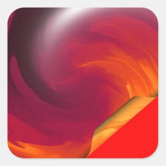 Light_Fire_Twirl Page Curl Square Sticker