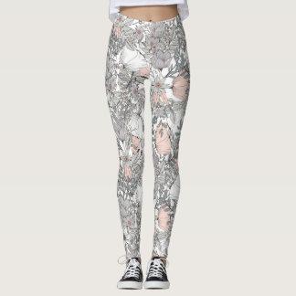 Light Floral Pattern Leggings