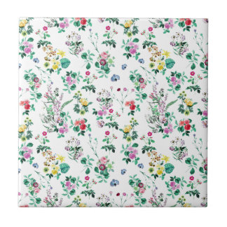 Light Floral Pattern Tile
