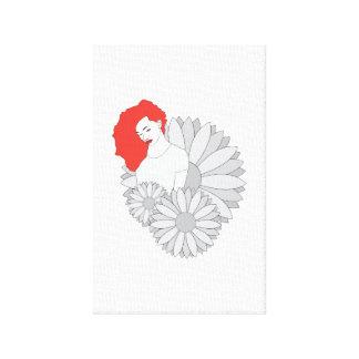 Light flower canvas print