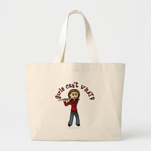 Light Flute Player Girl Canvas Bags