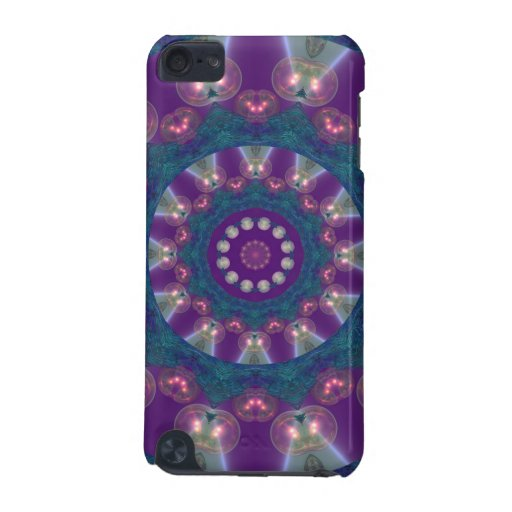 Light Gatherers, Magical Abstract Purple Mandala iPod Touch (5th Generation) Cases