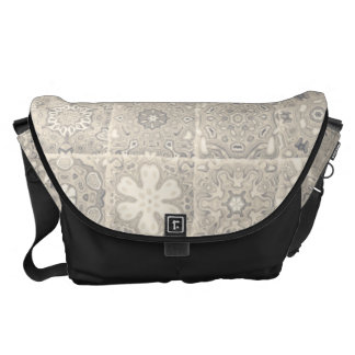 Light Geometric Block Design Messenger Bags