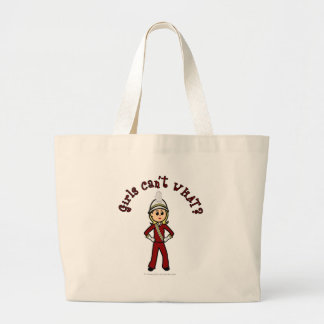 Light Girl in Red Marching Band Uniform Bags