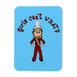Light Girl in Red Marching Band Uniform Flexible Magnets