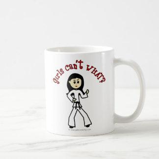 Light Girl Martial Artist Basic White Mug