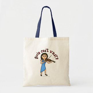 Light Girl Playing Violin Tote Bag
