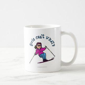 Light Girl Snow Skiing Coffee Mug