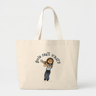 Light Girl Trumpet Player Canvas Bag