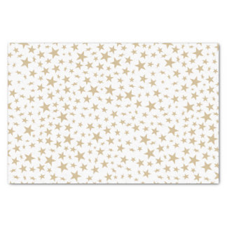 Light Gold Stars Print Pattern Tissue Paper