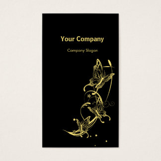 Light Golden Butterflies Business Card